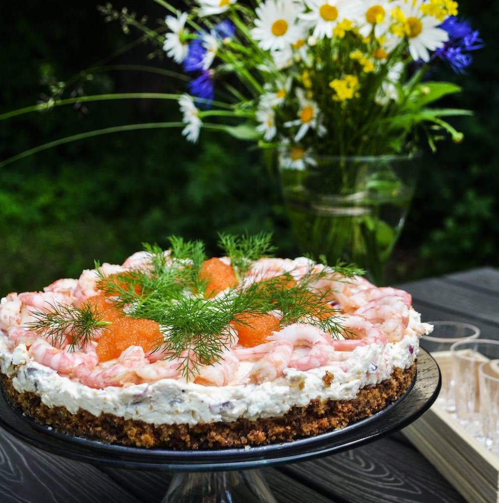 Räkcheesecake med löjrom