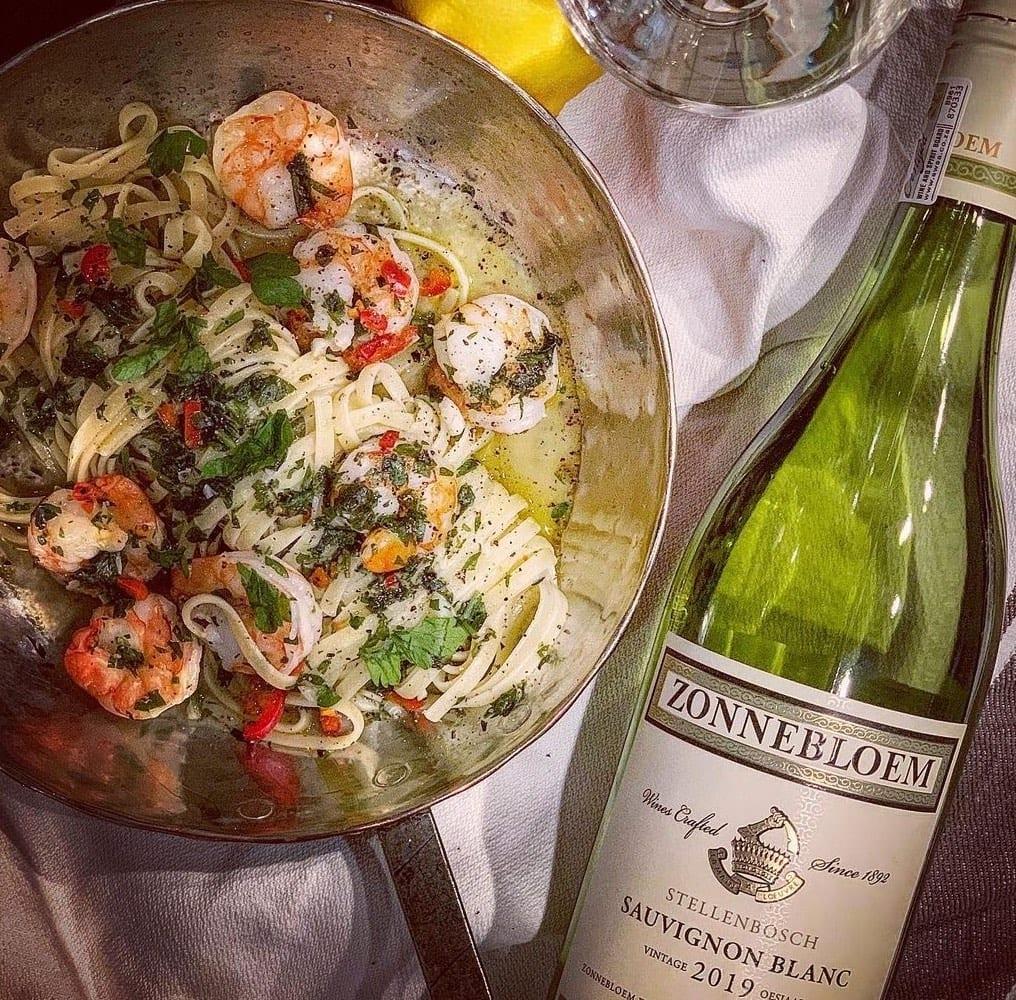 Linguine aglio e olio con scampi
