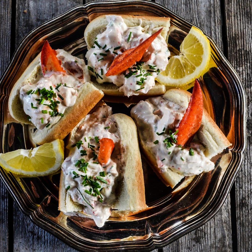 krämiga lobster rolls Pandalus