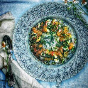 Färskpotatis med brynt smör och löjrom